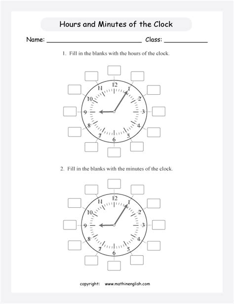 fill   minute  hour numbers   clocks math time