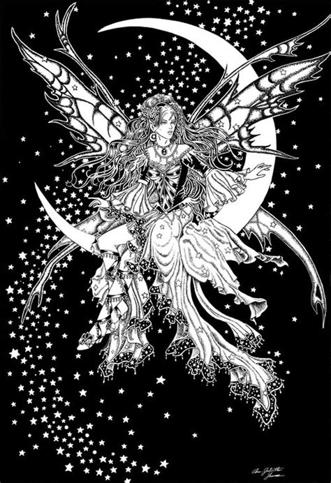 Moon fairy   Fairy coloring pages, Fairy coloring, Moon