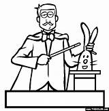 Magician Coloring Circus Printable Others Coloringpages101 sketch template