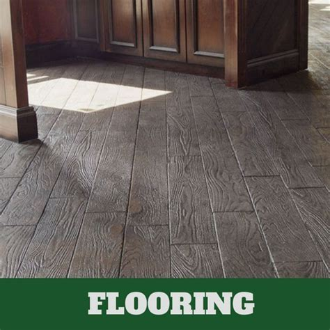 Stamped Concrete Interior Floors in Lansing, Michigan