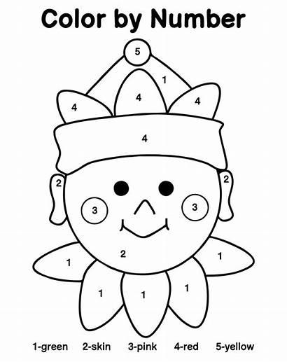 Printable Coloring Worksheets Number Numbers Elf Preschool