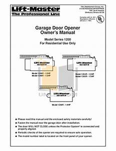 Pdf Manual For Chamberlain Other Liftmaster 1255