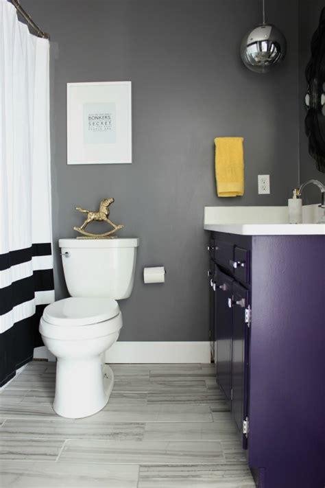 black white purple bathroom black gray and brass master bathroom remodel 17440