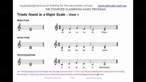 major  minor triads  weeks  solfa program video
