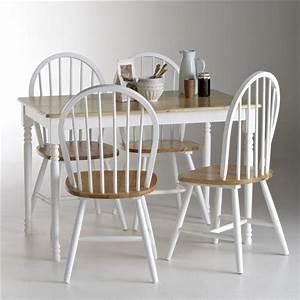 Un Dossier De Chaise : ensemble table et 4 chaises windsor la redoute shopping ~ Premium-room.com Idées de Décoration