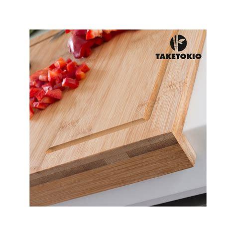 planche de travail cuisine planche à découper en bambou pour plan de travail taketokio