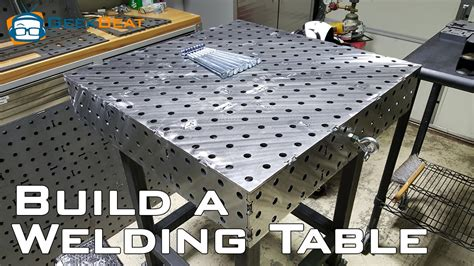 Free Diy Furniture Plans How How To Build A Welding Table Youtube