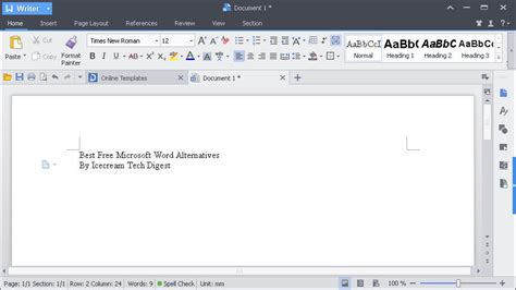 Writer Free by Best Free Microsoft Word Alternatives Icecream Tech Digest