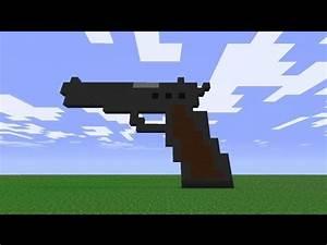 Minecraft: how to make a gun - (minecraft gun) - YouTube