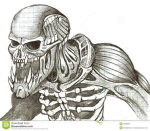 logo design preise das skelett eines monsters stock abbildung bild 39926637