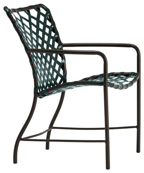 tamiami arm chair vinyl lace mica strap white lite