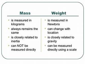 T3 Mass And Weight