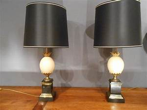 Oeuf D Autruche : paire de lampes oeuf d 39 autruche lampes ~ Melissatoandfro.com Idées de Décoration