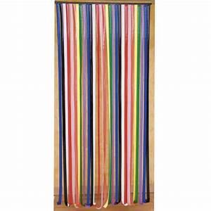 Rideau De Porte Lanires Plastique Multicolore