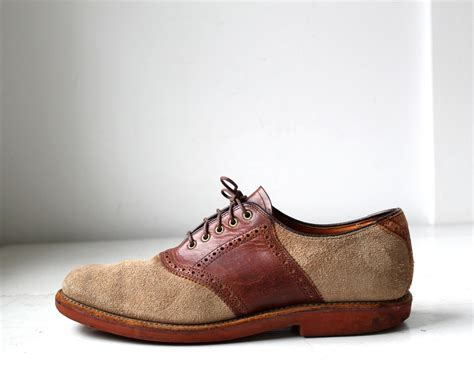 saddle oxfords tone suede two tan brown