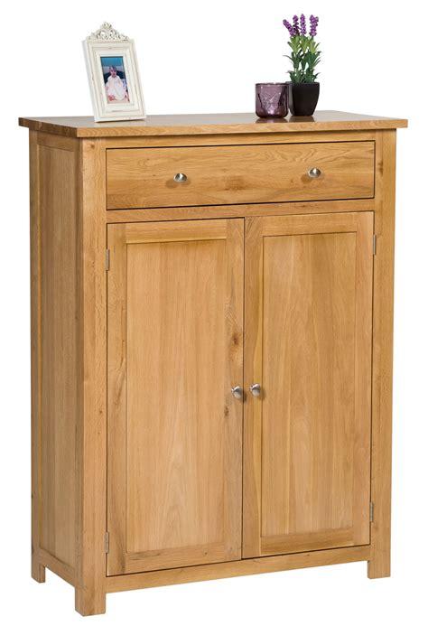 cubby shelf large oak shoe storage cabinet wooden hallway cupboard