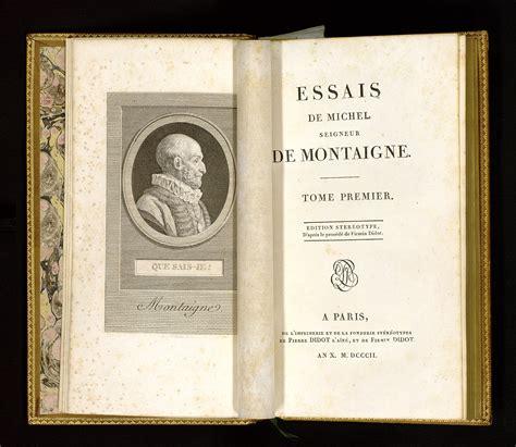 patrimoine des bibioth 232 ques d aquitaine essais montaigne michel de frontispice et page de