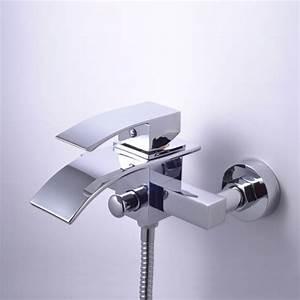 Robinet Cascade Baignoire : robinetterie baignoire murale salle de bain robinetterie mitigeur robinet lavabo ~ Nature-et-papiers.com Idées de Décoration