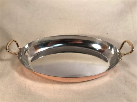 french oval      copper tin lined pan rocky mountain retinning