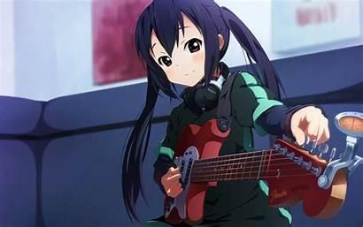 Azusa Nakano Anime Desktop Instrument Wallpapers Musical
