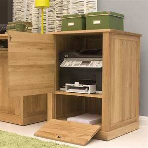 Contempo Oak Printer Cupboard