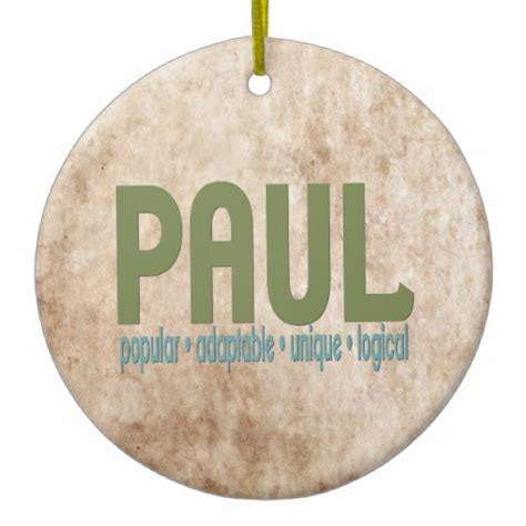 paul name meaning christmas tree ornament zazzle