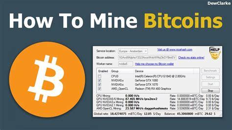 How To Mine Bitcoins (easy Way) Youtube