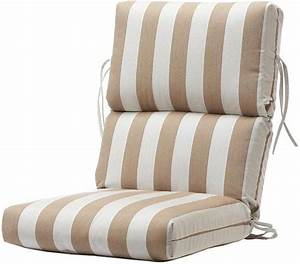 Bullnose High-Back Outdoor Chair Cushion - Dining Cushions