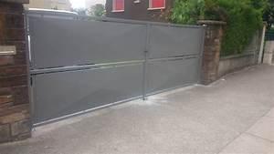Portail 2 Battants : portail 2 battants finition epoxy 9007 ~ Melissatoandfro.com Idées de Décoration