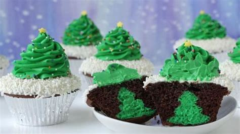 cheesecake stuffed christmas tree cupcakes recipe from tablespoon