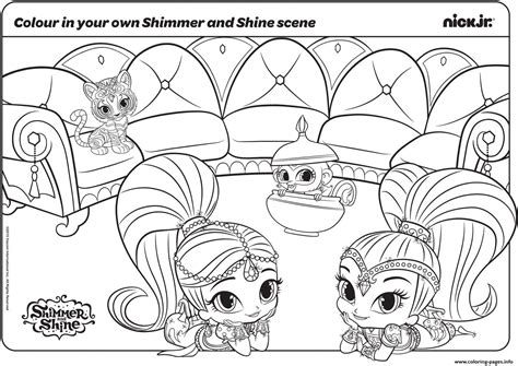 New Shimmer And Shine Coloring Pages Printable
