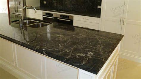 Black Granite Bench Tops by Black Granite Countertops Cosmic Black Granite