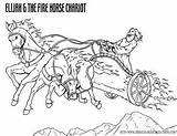 Coloring Fire Elijah Chariot Elisha Bible Printable Chariots Sheets Sunday Heaven Crafts Christian Stories Fiery Resources Goes Colouring Horses Jesus sketch template