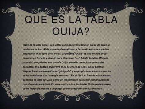 table de ouija la tabla ouija 2