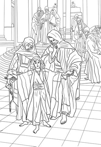 year  jesus    temple coloring page  printable coloring pages