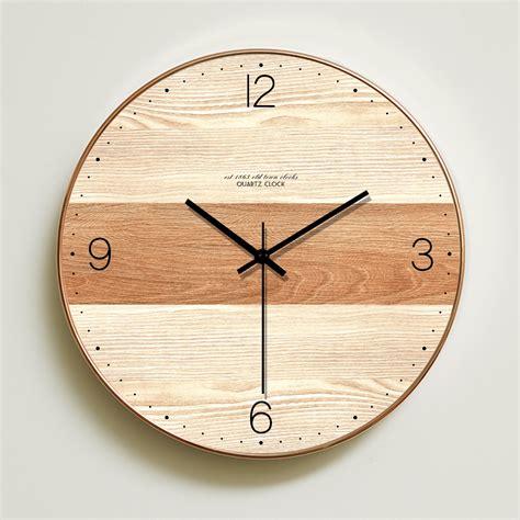 Target/home/decor style ideas/decorative clocks : Wall Clock Simple Modern Design Wooden Clocks For Bedroom ...