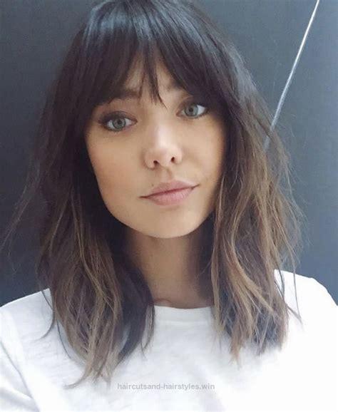 medium legth hair styles medium length with fringe bangs logan stanton haircut 8856