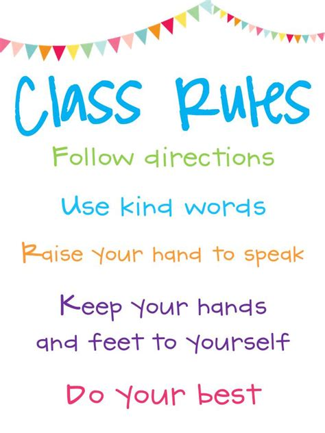 classroom rules template the common core classroom