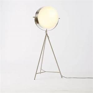 spotlight metal tripod floor lamp west elm With spotlight floor lamp for sale