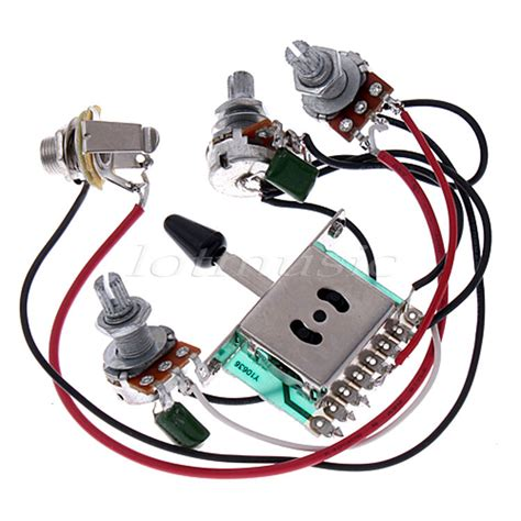 Set Electric Guitar Wiring Harness For Pickup Way