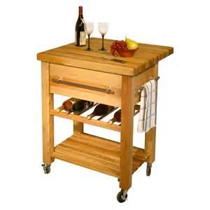 Kitchen Island Boos Butcher Block Kitchen Workcenter With Wine Rack