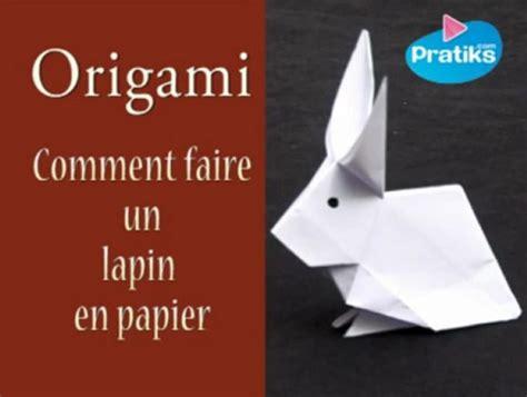 origami comment faire un lapin en papier origami pratiks