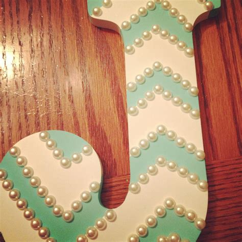 wooden letter painters tape aqua paint  pearls craft queen painting wooden letters