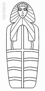 Coloring Pages Mummy Egyptian Coffin Template Printable Cool2bkids sketch template