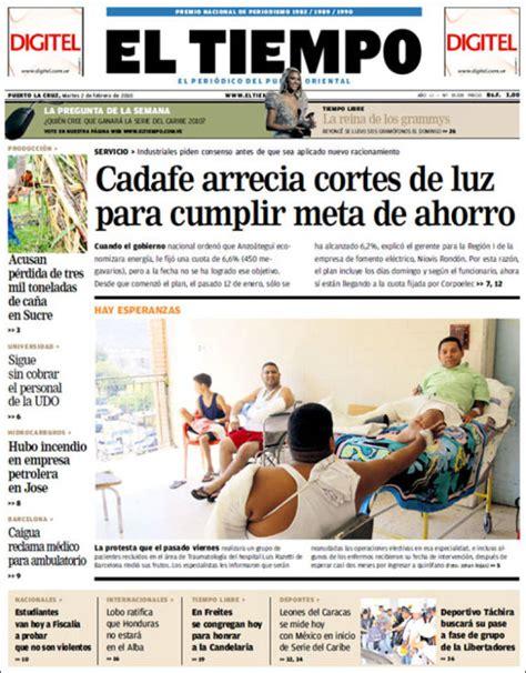 periodico diario el tiempo venezuela periodicos de