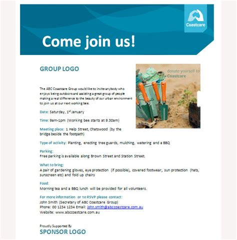 business event invitation template sample templates