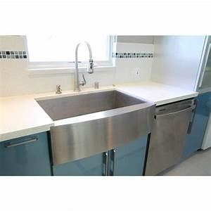 33 inch stainless steel single bowl curved front farmhouse With 33 inch farmhouse apron sinks