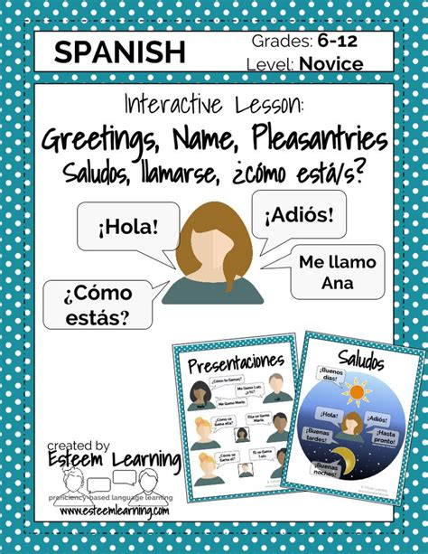 updated product spanish lesson