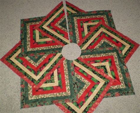 quilted christmas tree skirt crazy 8 strip pattern