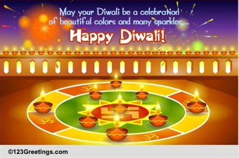 colors  sparkles  diwali  rangoli ecards greeting cards